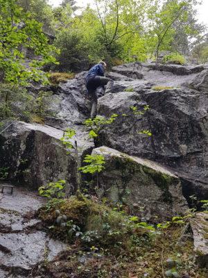 Impression des Katharinenfluh Klettersteigs