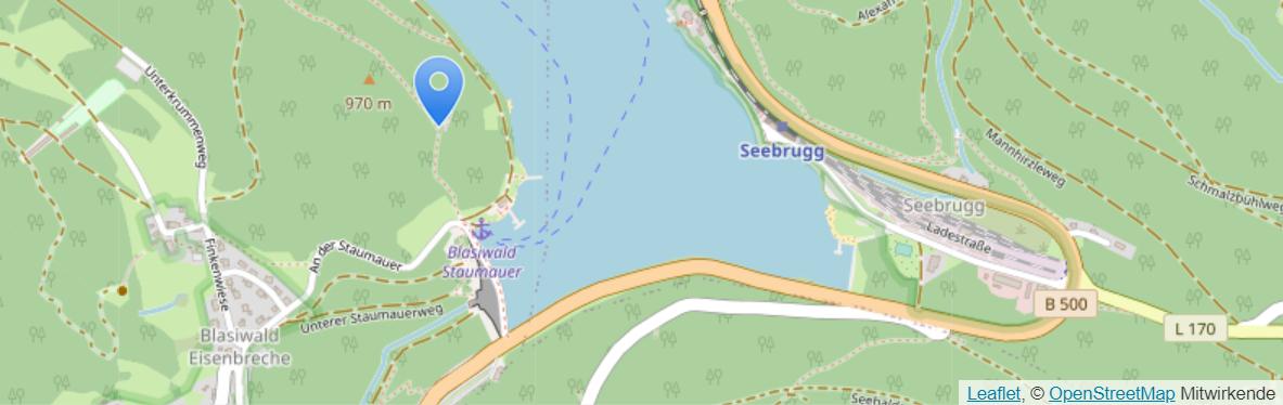 Lage des Katharinenfluh Klettersteigs