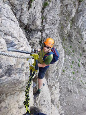 Tobi im Salewa-Klettersteig
