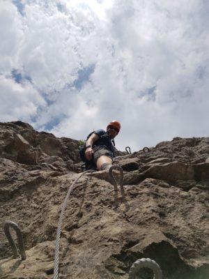Tobi im Ostrachtaler Klettersteig