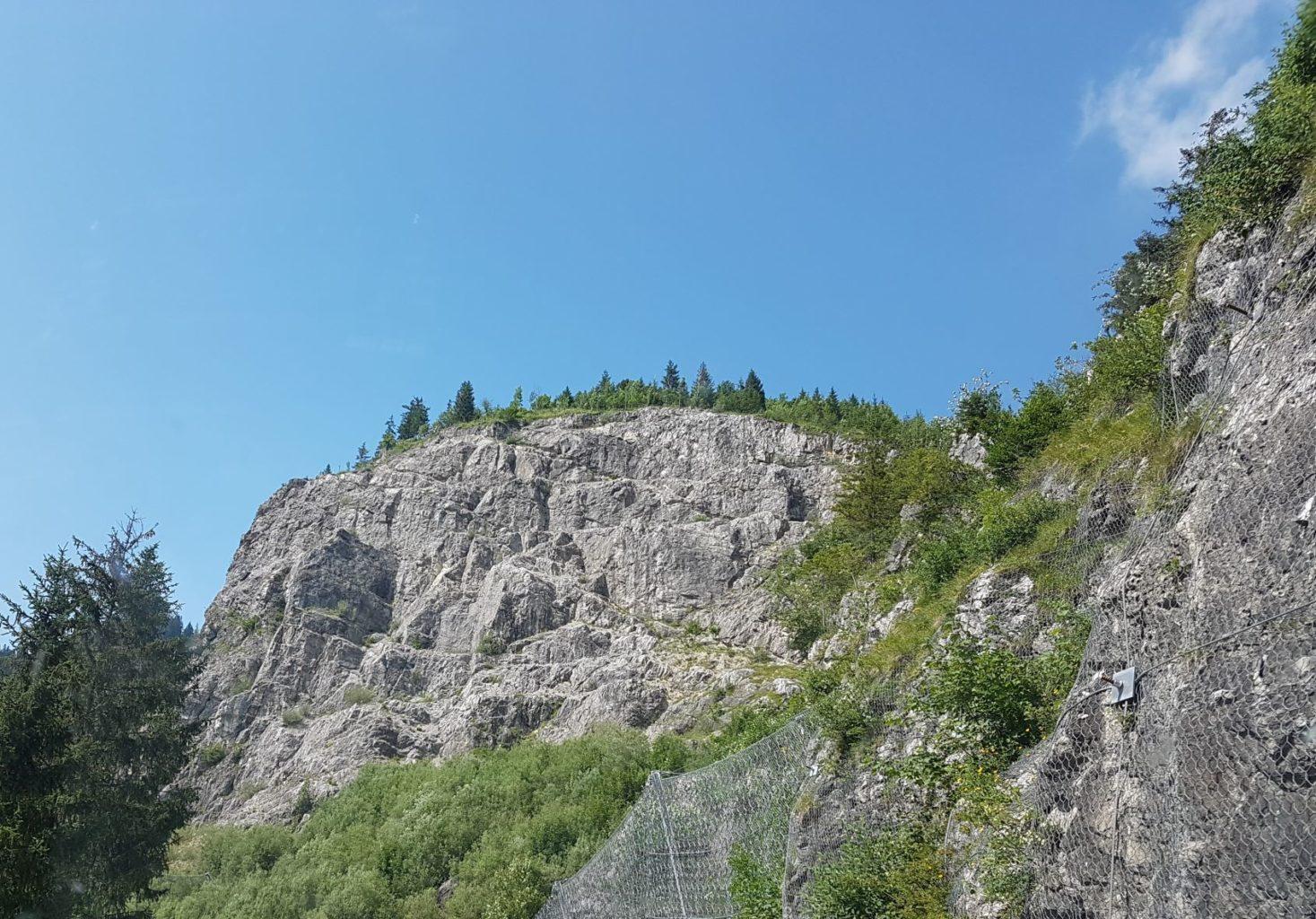 Blick auf den Ostrachtaler Klettersteig