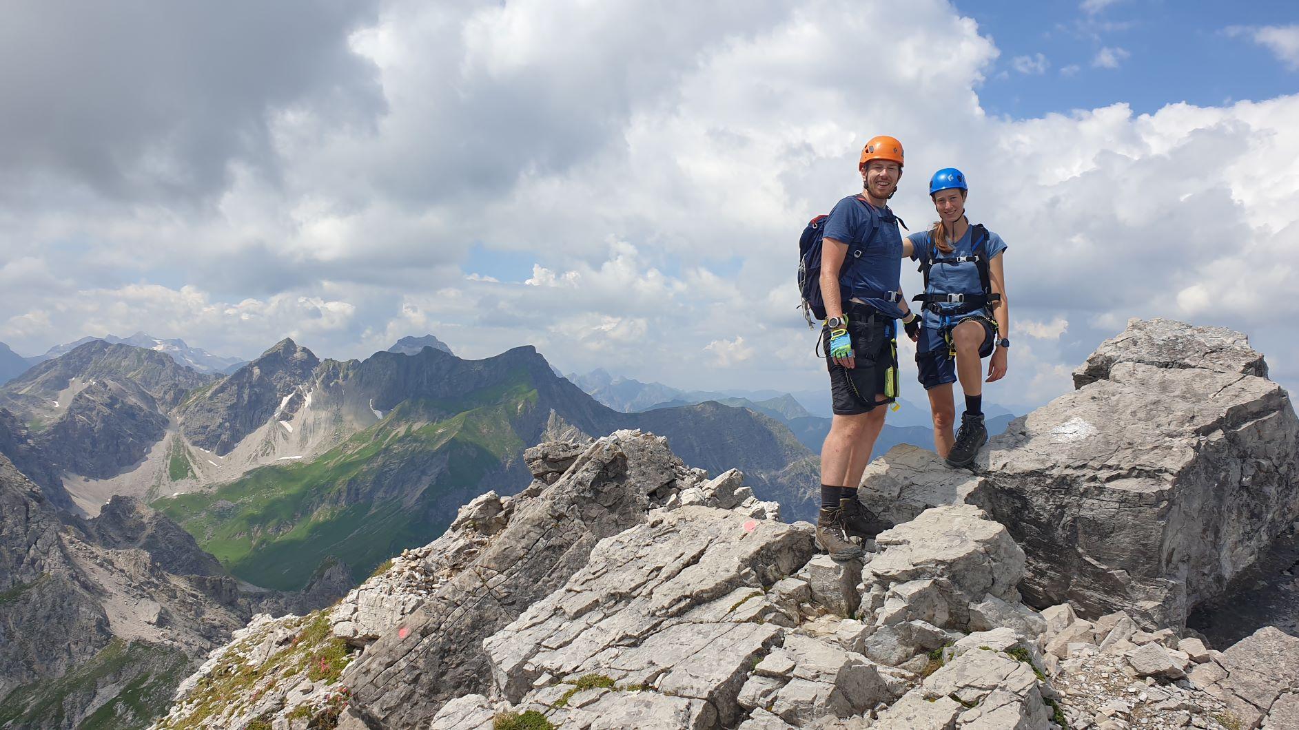 Hoch oben auf dem Mindelheimer Klettersteig