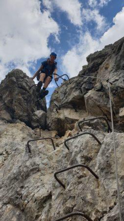 Kletterhilfen am Mindelheimer Klettersteig