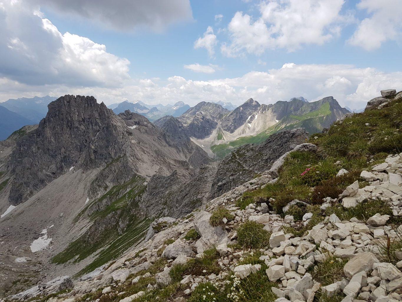 Blick in die Allgäuer Bergwelt vom Mindelheimer Klettersteig