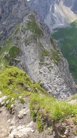 Abstieg Mindelheimer Klettersteig