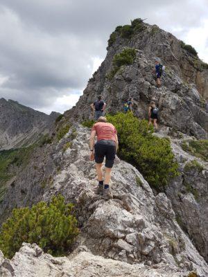 Aufstieg über den Grat zum Gaisalphorn