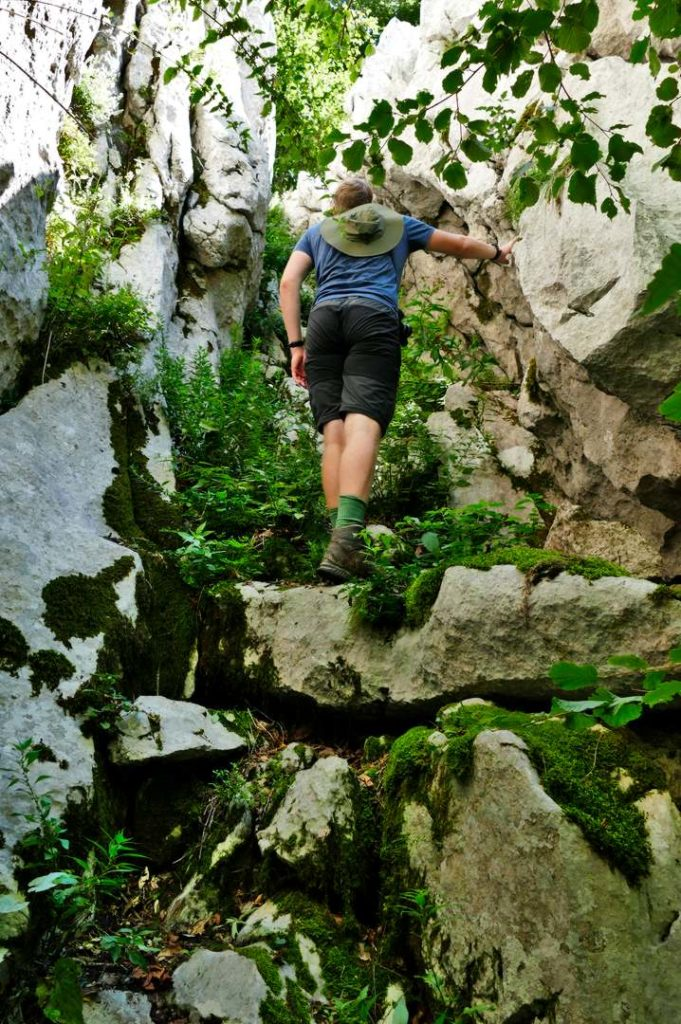 Kletterpartie im Velebit