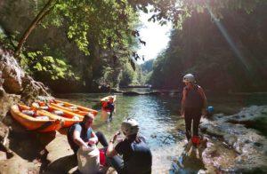 Pause vom Kayaken auf der Mreznica