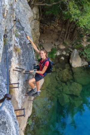 kurzer Klettersteig an der Krupa