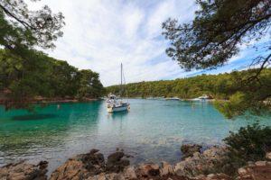 Bucht Krivica auf Küstenwanderung