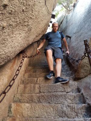 Abstieg vom Hua Shan
