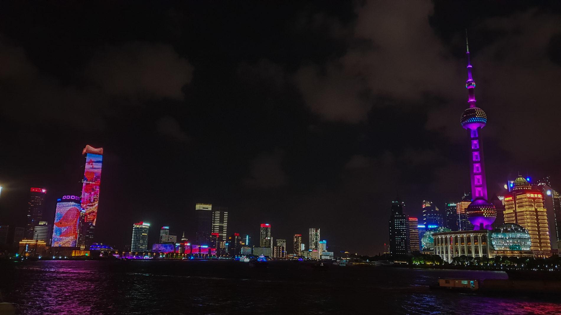Skyline, Blick vom Bund auf Pudong, Shanghai