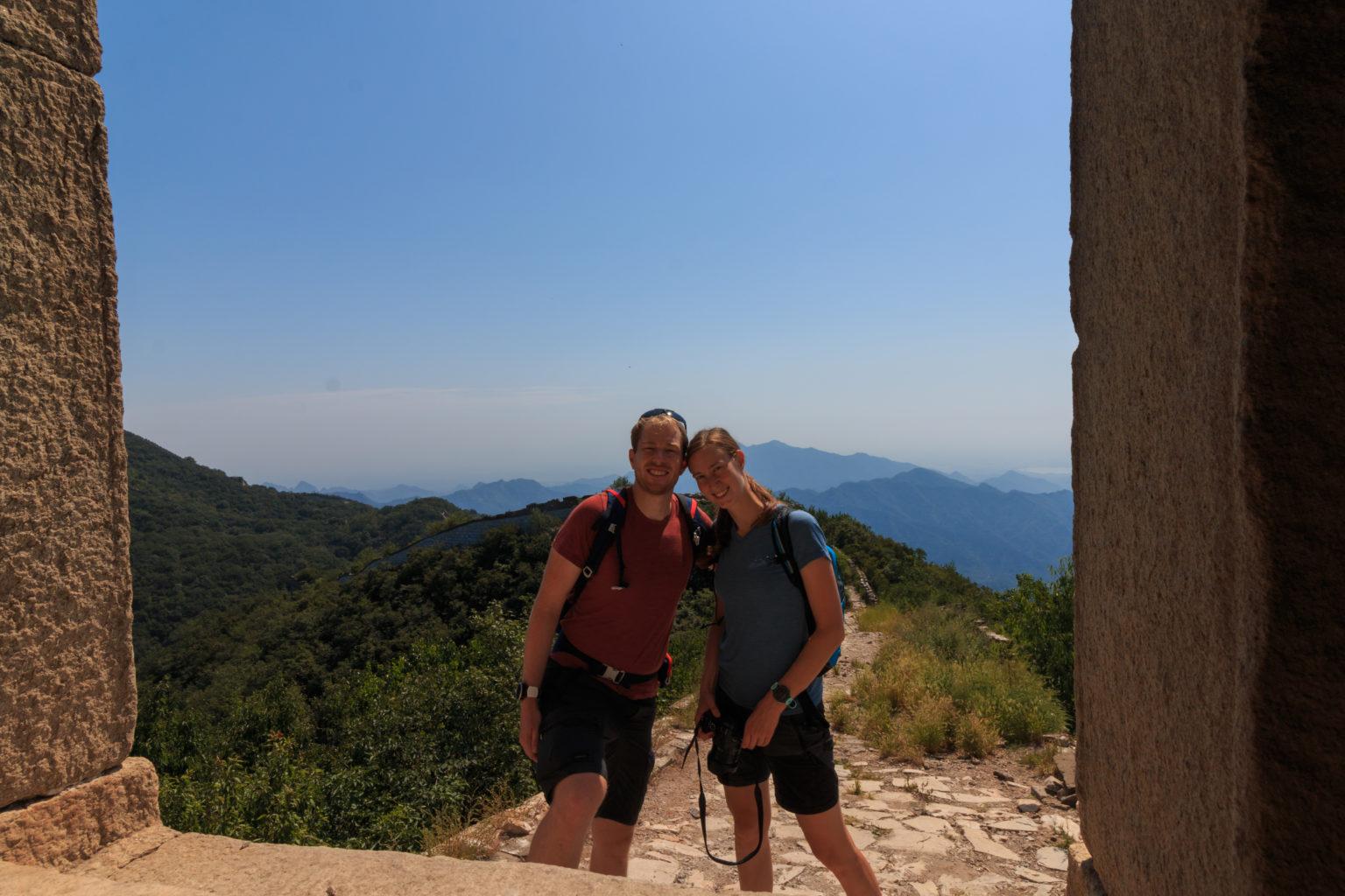 Svenja und Tobi auf der Chinesischen Mauer