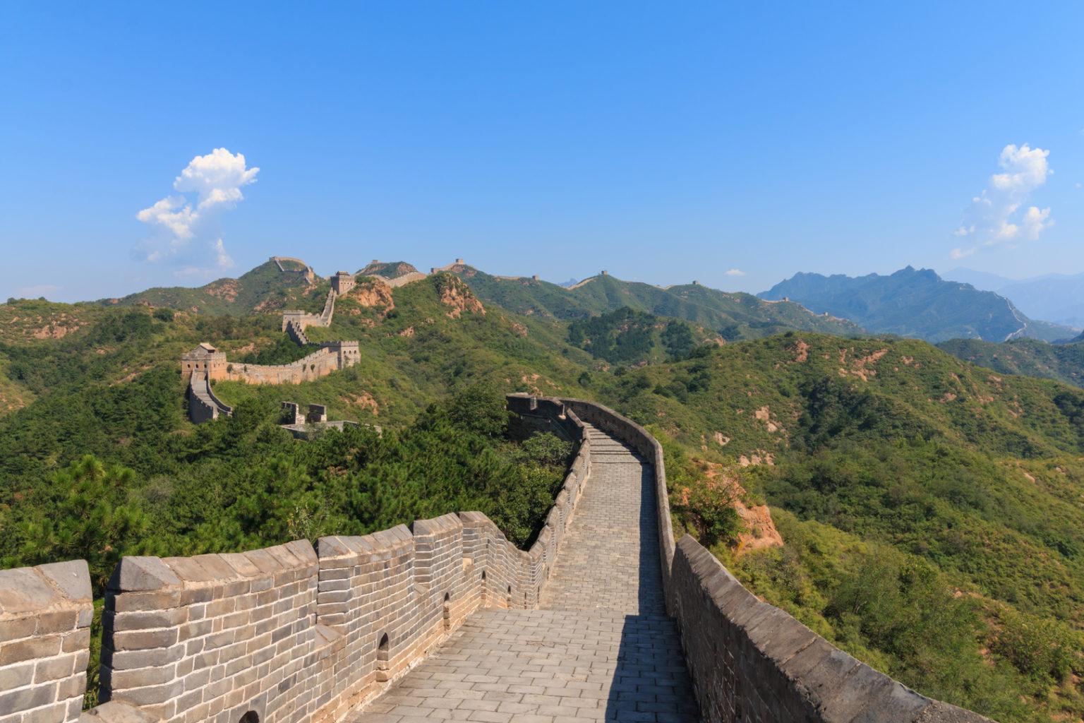 Blick auf die Chinesische Mauer