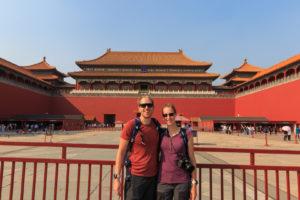 vor dem Eingang der verbotenen Stadt von Peking