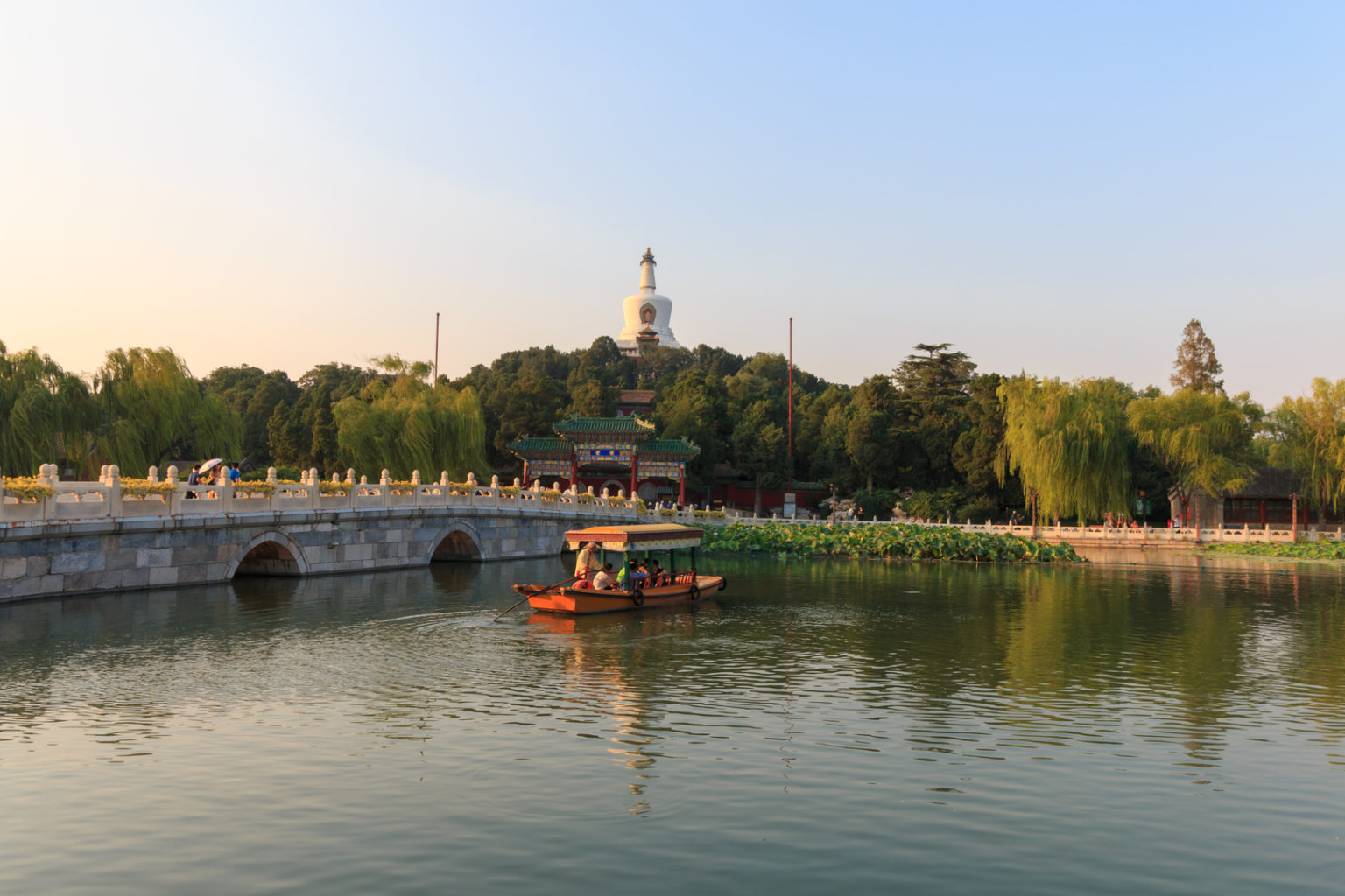 Beihai Park in Peking