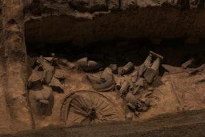 ausgegrabene Scherben in Xian