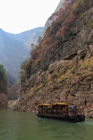 kleine Boote im Goddess Stream, einem Arm des Yangtze