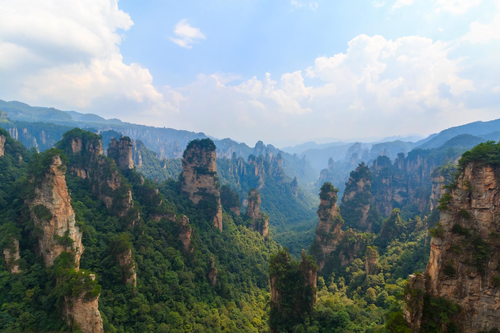 Ausblick im Zhangjiajie