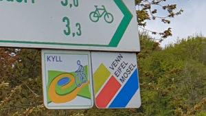 Schild Venn-Eifel-Mosel-Radweg