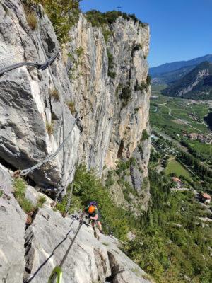 Blick auf Colodri Klettersteig und Gipfel