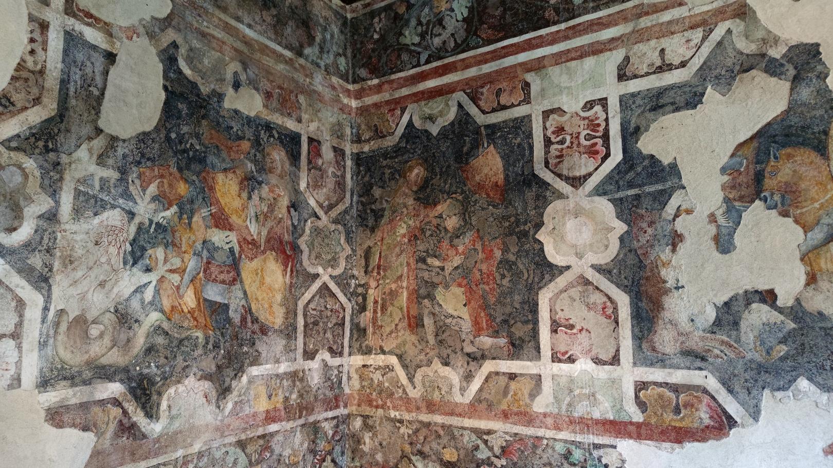 Fresken auf Burg Arco