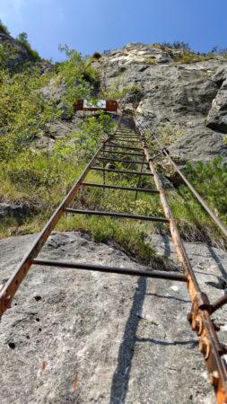 Leiter im Klettersteig Via dell Amicizia