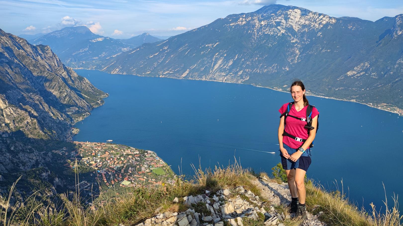 Monte Bestone mit Blick auf den Gardasee