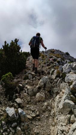 auf dem Weg zur Cima delle Pozzette