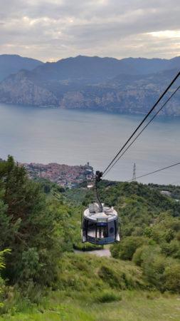 Seilbahn vom Monte Baldo nach Malcesine, Blick auf den Gardasee